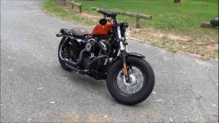 10. Harley Davidson Forty Eight with Vance and Hines Short Shots (LOUD BAFFLES).