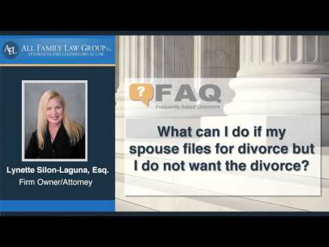 What can I do if my spouse files for divorce but I do not want the divorce