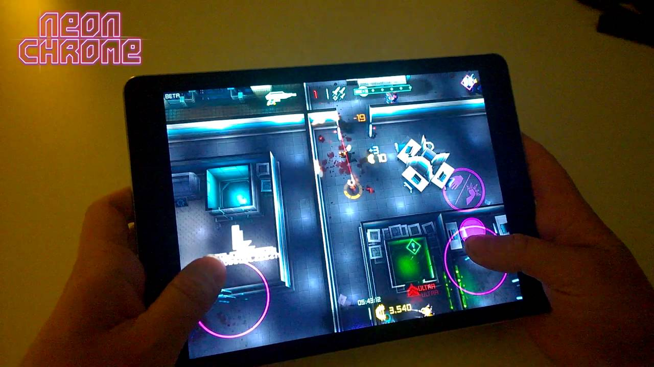 Here's Footage of Cyberpunk Dual-Stick Shooter 'Neon Chrome' Running on an iPad