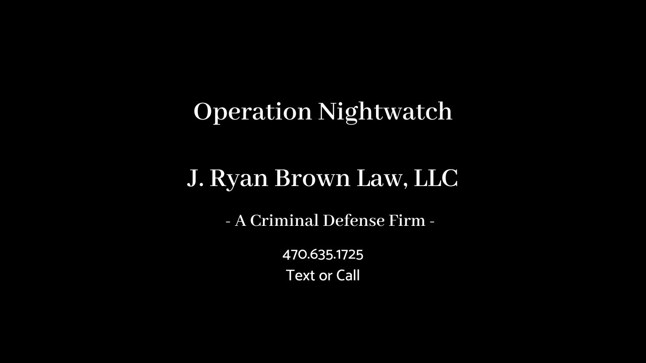 Operation Nightwatch Nets 80 Arrests in Coweta County