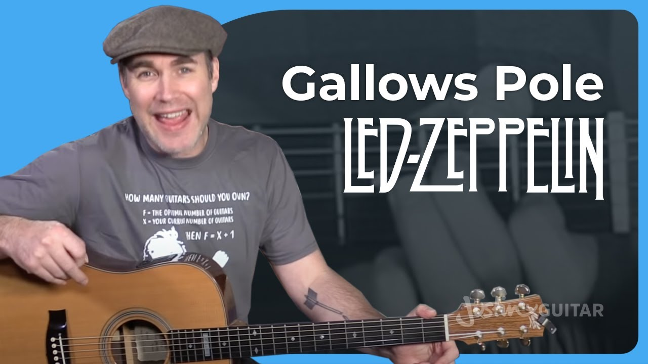 Led Zeppelin – Gallows Pole Guitar Lesson Chords Strumming Acoustic JustinGuitar Jimmy Page