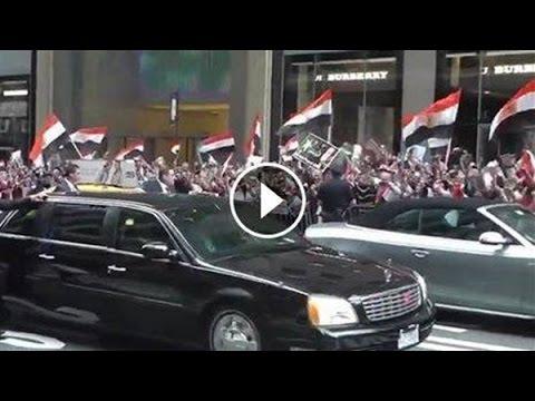 استقبال السيسي فى امريكا - استقبال اسطوري للرئيس عبد الفتاح السيسي على انغا