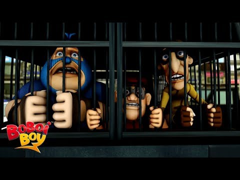 BoBoiBoy Earth S3 E7 - Rob, Robert, & Roberto Santana's Robbery | MOONBUG KIDS - Superheroes