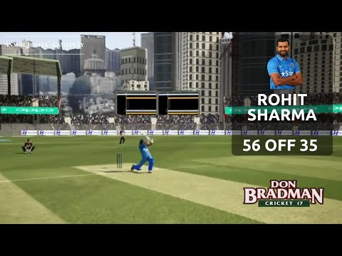 Download Rohit Sharma 🏏 Scores 56 off 35 // INDIA 🇮🇳 vs New Zealand 🇳🇿 // Don Bradman Cricket 17 HD Mp4 3GP Video and MP3