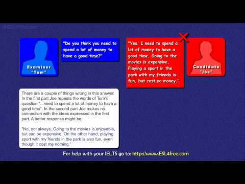 IELTS Speaking Exam Tutorial – Part 1 of the IELTS Exam
