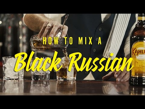 How to mix a perfect Black Russian ☝🏽