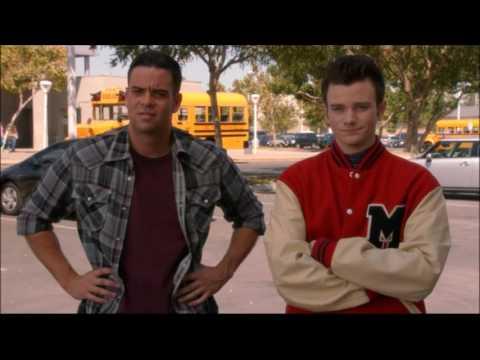 Glee - Puck asks Kurt for Finn's jacket 5x03 (видео)