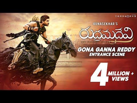 Gona Ganna Reddy Entrance Scene from Rudhramadevi 3D Telugu Movie | Happy Birthday Allu Arjun