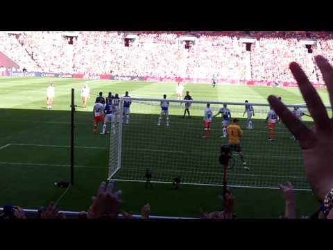 Blackpool's first goal by Charlie Adam Play Off Final May 2010