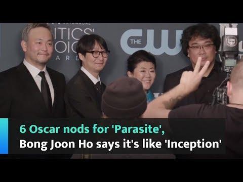 6 Oscar nods for 'Parasite', Bong Joon Ho says it's like 'Inception'