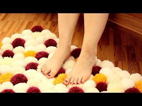 Creare un simpatico tappeto con del filo di lana!
