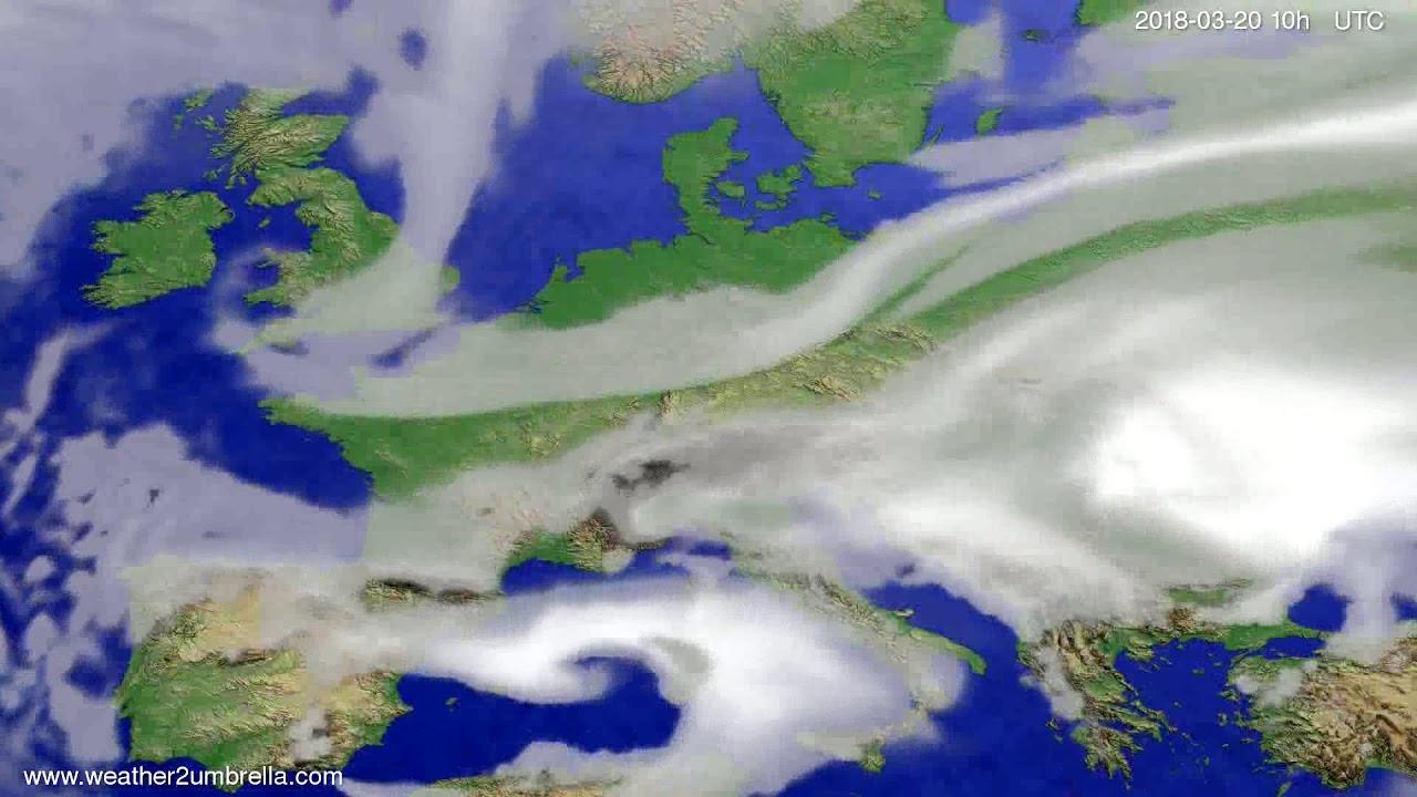 Cloud forecast Europe 2018-03-18