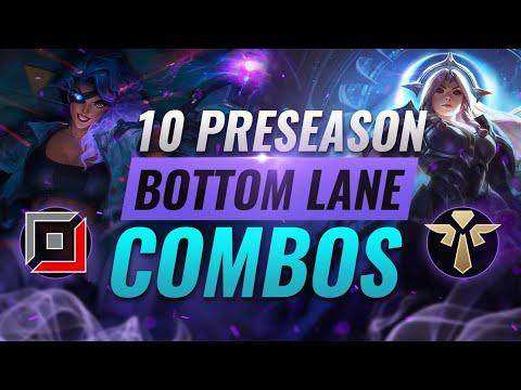 10 BEST PRESEASON Bottom Lane Combos YOU SHOULD PLAY - League of Legends Preseason 11