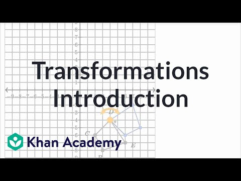 Intro To Geometric Transformations Video Khan Academy