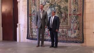 S.M. el Rey se reúne con el presidente del Parlamento de las Illes Baleares, Vicenç Thomas