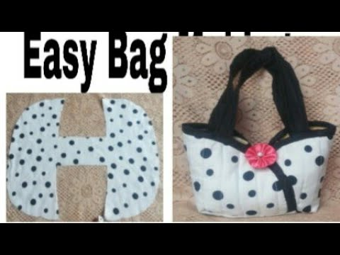 10   मिनट   में  बनाऐ easy  Handbag bag with front pocket ll market bag ll lunch bag ll bag banana