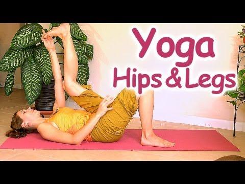 20 Minute Yoga for Beginners, Relaxing Hip & Leg Routine | Mollie Psychetruth Austin ASMR