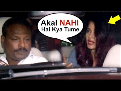 Aishwarya Rai INSULTS Her Driver In Front Of Media