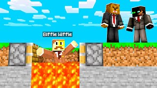 Trolling My Friends With An Invisible Lava Trap In Camp Minecraft | JeromeASF