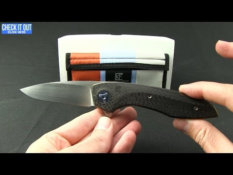 "Custom Knife Factory Malyshev Gratch Liner Lock Knife Carbon Fiber (3.75"" Satin)"