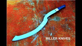 https://www.combatabrasives.comhttp://tsprof.com Link to the sharpener used on the videoFacebook page https://www.facebook.com/Miller-Knives-285026088542858/?ref=aymt_homepage_panelThis is how I forged a Khopesh sword