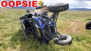6. 2018 POLARIS RZR XP TURBO S TIP OVER 😂