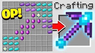 Video HOW TO CRAFT A $1,000 PICKAXE! *OVERPOWERED* (Minecraft 1.13 Crafting Recipe) MP3, 3GP, MP4, WEBM, AVI, FLV September 2019