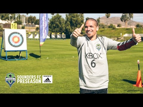 Video: Sounders take a break with archery lessons
