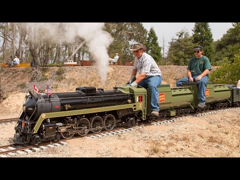 Firing up and running the Canadian National #6060 4-8-2 live steam locomotive