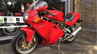 7. Ducati 900 SS Super Sport 1998 Red V-twin Review and start up