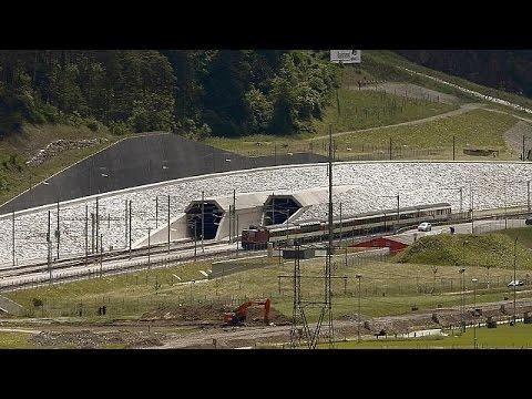 Ελβετία: Εγκαινιάζεται η σιδηροδρομική σήραγγα Γκοτάρντ