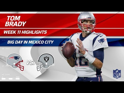 Video: Tom Brady Tears Through Oakland's Defense in Mexico City! | Patriots vs. Raiders | Wk 11 Player HLs