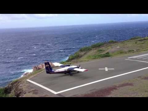 runway - Shortest runway in the world! HD 1080p, landing and take off, saba airport (Yrausquin Airport) Saba/Yrausquin airport : 17º38´44N 63º13´14W The airport's ris...