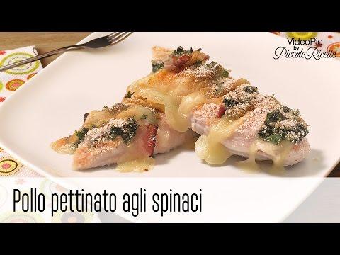 pollo pettinato agli spinaci - ricetta