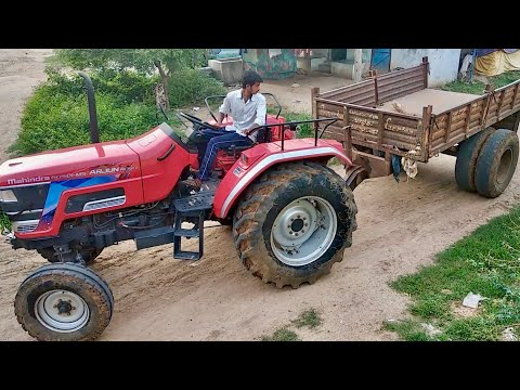 How to take reverse tractor with trailer / Mahindra Arjun NOVO Tractor