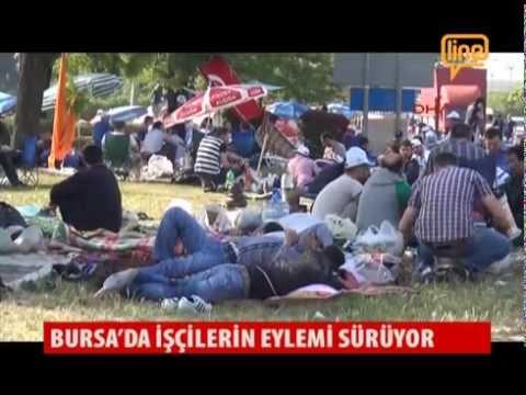 Bursa'da İşçilerin Eylemi Sürüyor  19 Mayıs 2015