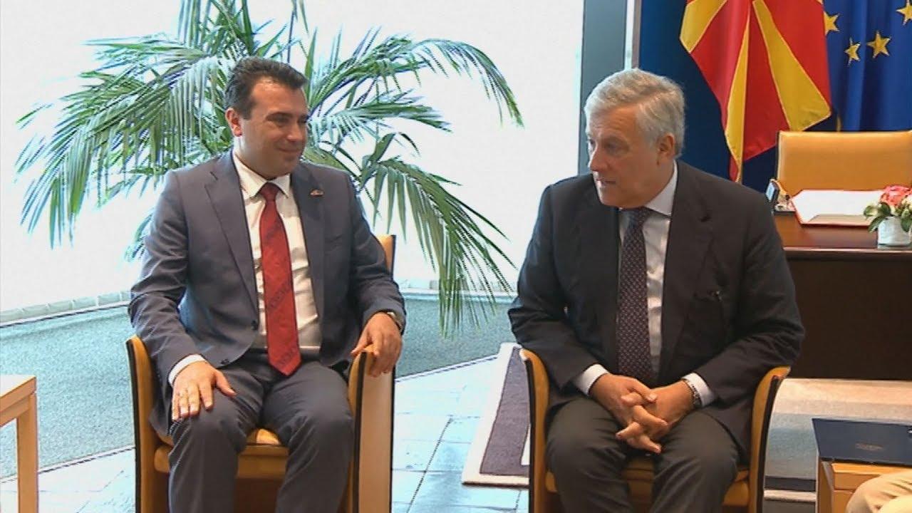 Ο πρωθυπουργός της ΠΓΔΜ, Ζόραν Ζάεφ στην ολομέλεια του Ευρωπαϊκού Κοινοβουλίου