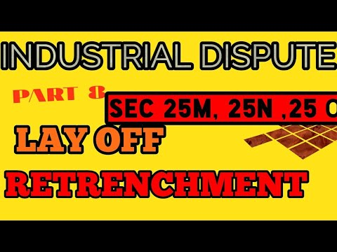 Part 8 , Retrenchment, Layoff, Labour Law, LLB,CS, JUDICIARY, PROHIBITION,Sec 25 , Industry, Dispute