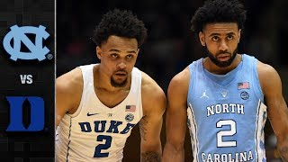 North Carolina vs. Duke Basketball Highlights (2017-18)