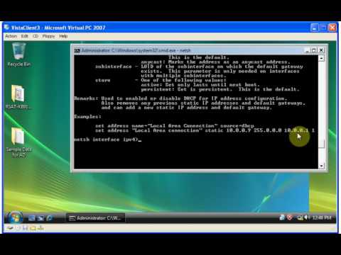 Using NETSH to change your IP Address