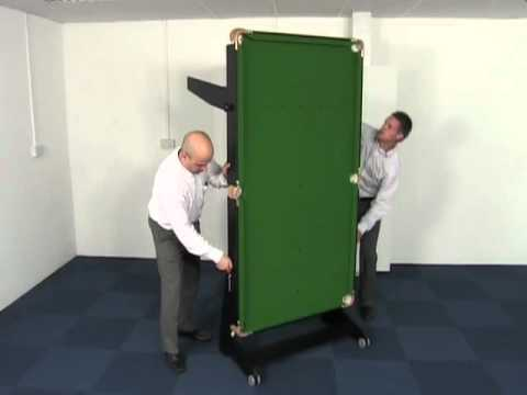 BCE FS Range of Snooker & Pool Tables with Rolling Folding Legs + Dartboard