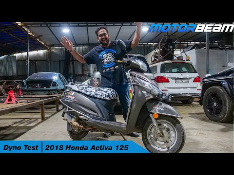 2018 Honda Activa 125 Actual Power - Dyno Test | MotorBeam