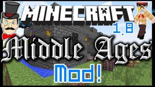 Minecraft Mods - MIDDLE AGES Mod Stained Glass ! Medieval Knights Tents Lanterns&More !