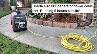 10. Honda eu2000i inverter/generator cable test. Powering house circuits.