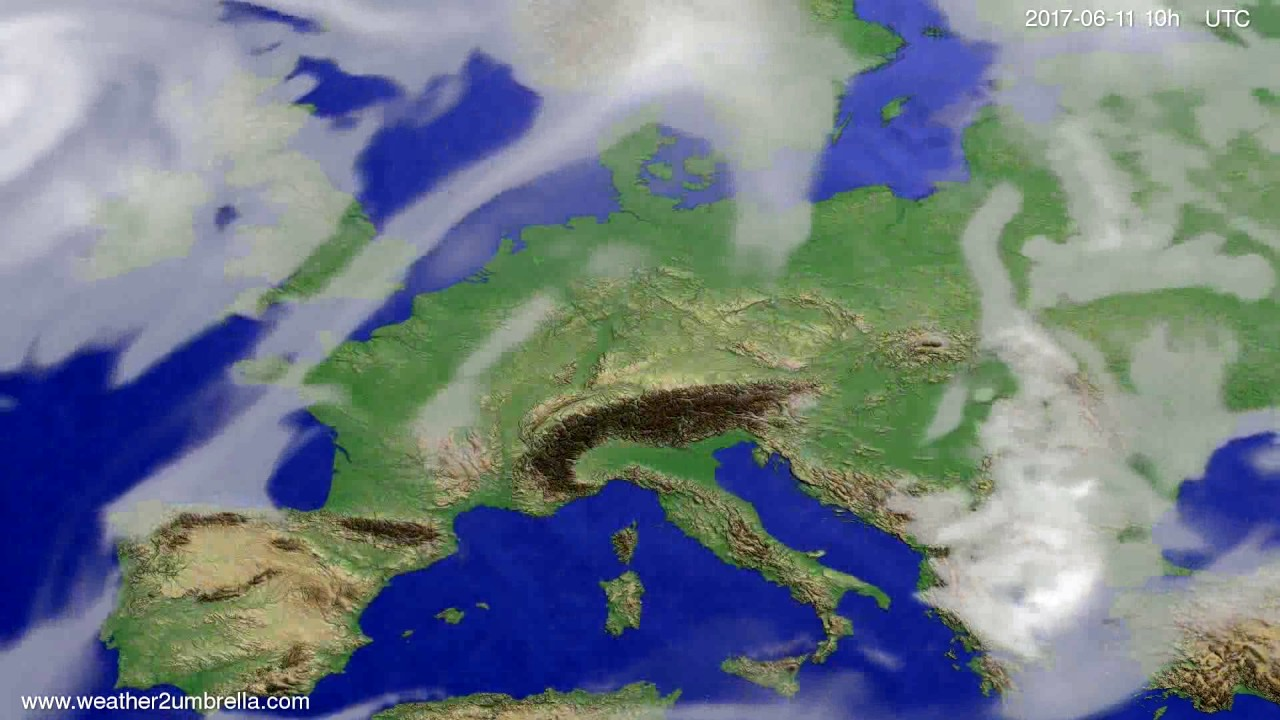 Cloud forecast Europe 2017-06-09