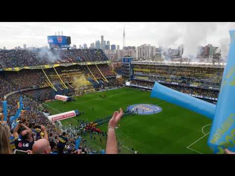 Boca-Unión: Recibimiento Boca mi buen amigo...♪♫ - La 12 - Boca Juniors