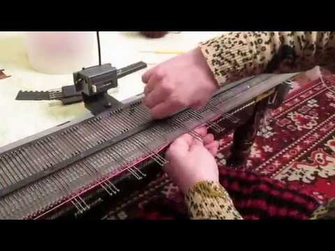 Мастер класс по вязанию на вязальной машине нева-5