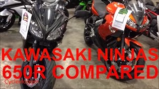 6. Kawasaki Ninja 650r side by side comparison