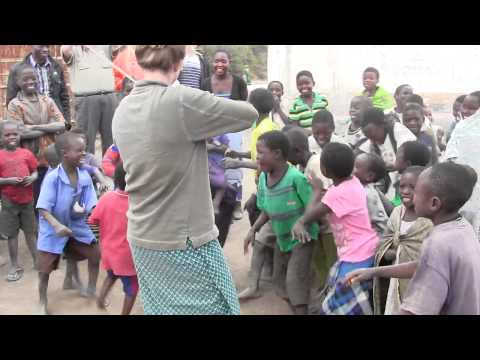 African children hear a fiddle for the first time.