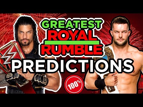 WWE GREATEST ROYAL RUMBLE Predictions 2018